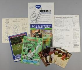 Cricket - 50+ signatures including Sussex County 1981,