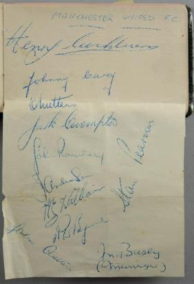 Autograph book, containing signatures of Manchester