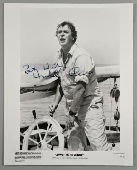 Michael Caine - Signed black & white promotional