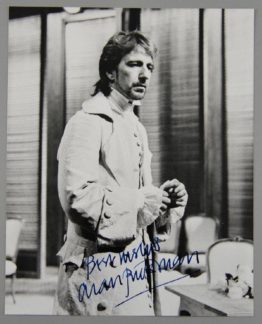Alan Rickman - signed photograph, 10 x 8 inches