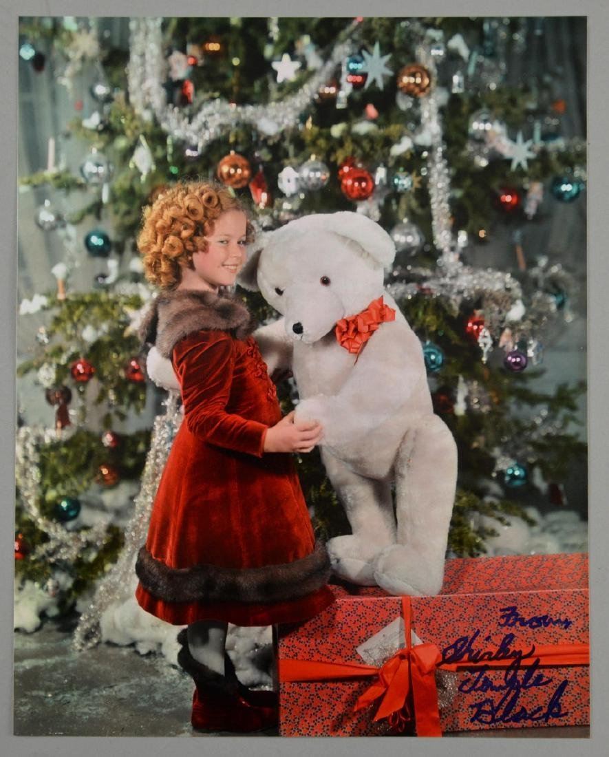 Shirley Temple Black signed 10 x 8 inch colour