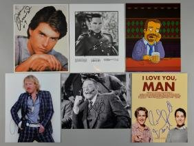 Six signed 10 x 8 inch photographs, Ralph Fiennes, Tom