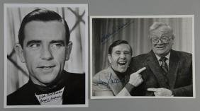 Norman Wisdom - Two photographs, one signed by Harry