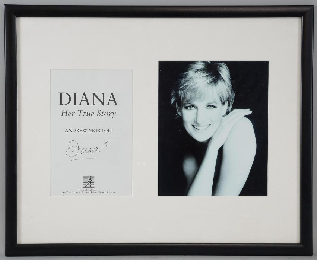 Diana Princess of Wales (1961-1997) A signed title page