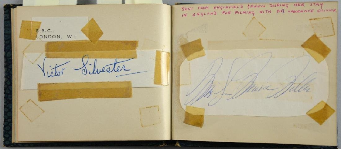 Autograph book, including signatures by Marilyn Monroe