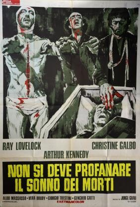 The Living Dead (1974) Italian 2-Foglio film poster,