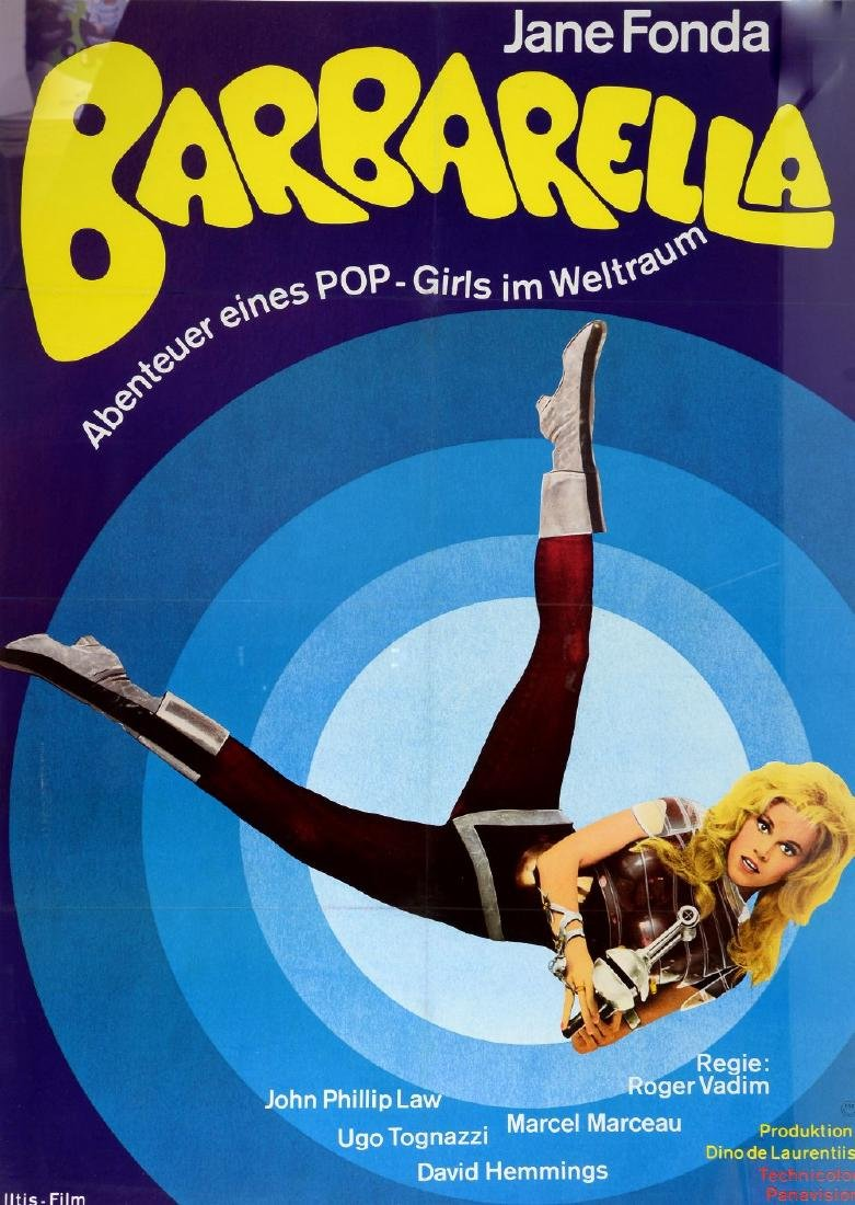 Barbarella (R-1973) German film poster for the 60's