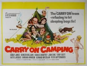 Carry On Camping (1969) British Quad film poster,