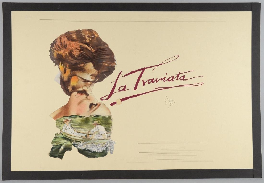 La Traviata (1982) original prototype painted artwork