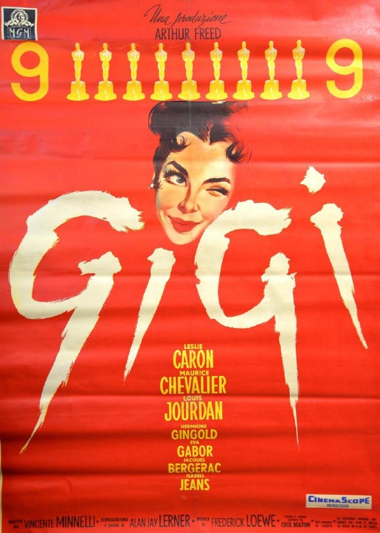 Gigi (1958) Italian 2 foglio film poster, Starring