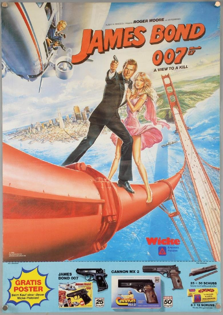 James Bond A View To A Kill (1983) German Advertising