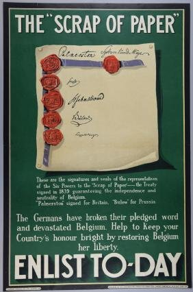 WWI Propaganda Poster - The Scrap of Paper Enlist