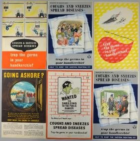 WWII Propaganda Posters - Coughs and Sneezes Spread