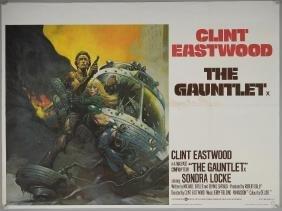 Three Clint Eastwood British Quad film posters