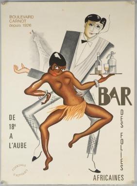 Josephine Baker (1926) Bar Des Folies Africaines,