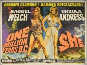 One Million Years B.C./She (1966) British Quad Double
