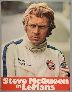 Le Mans (1971) German A1 film poster, starring Steve