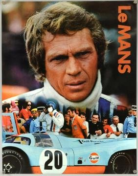 Le Mans (1971) an original advertising poster dated