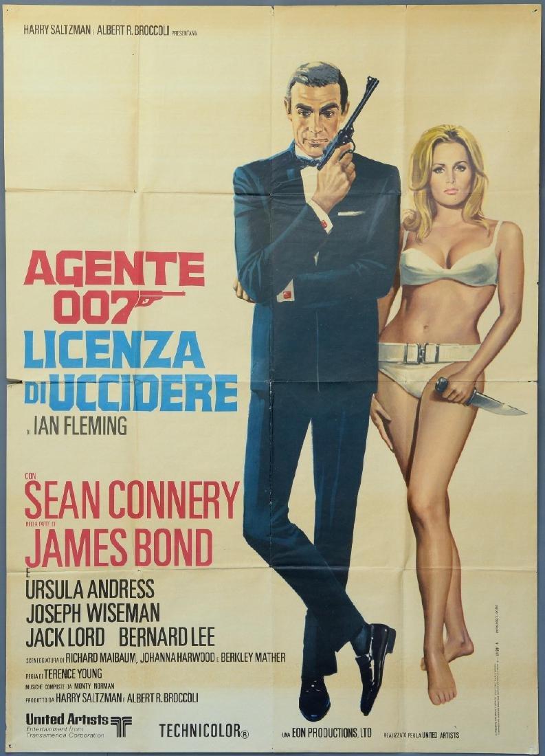 James Bond Dr. No (R-1970's) Italian 2 Foglio film