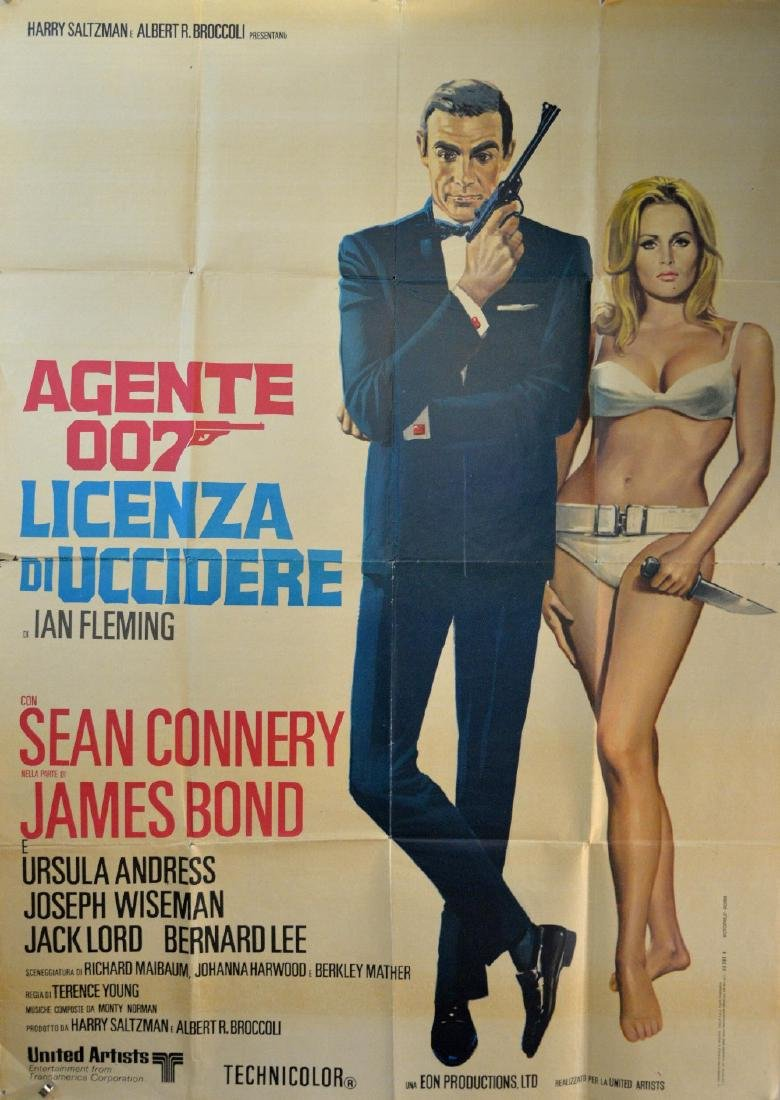 James Bond Dr. No (R-1970's) Italian 2 Foglio film - 2