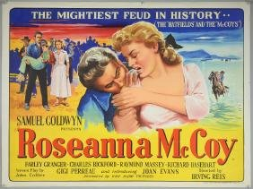 Roseanna McCoy (1949) British Quad film poster, by