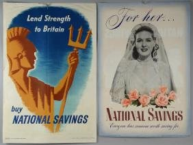 Two double sided National Savings / Double Crown film