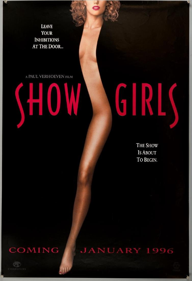 Showgirls (1995) Two British Quad film posters (teaser