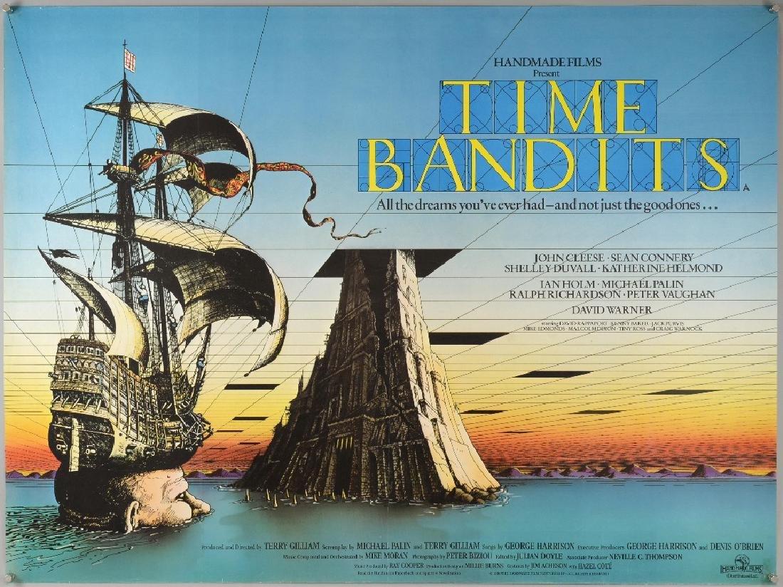 Time Bandits (1980) British Quad film poster, artwork