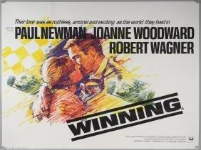 Winning (1969) British Quad film poster, starring Paul