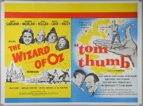 The Wizard of Oz / Tom Thumb (R-1950's) British Quad