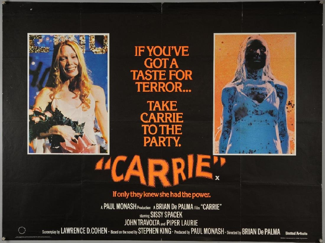 5 British Quad film posters including Carrie, Alien 3