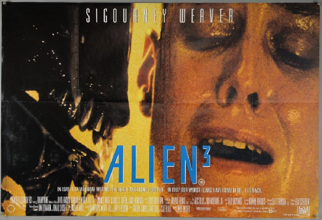 5 British Quad film posters including Carrie, Alien 3 - 2