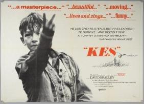 Kes (1969) British quad film poster, drama directed by