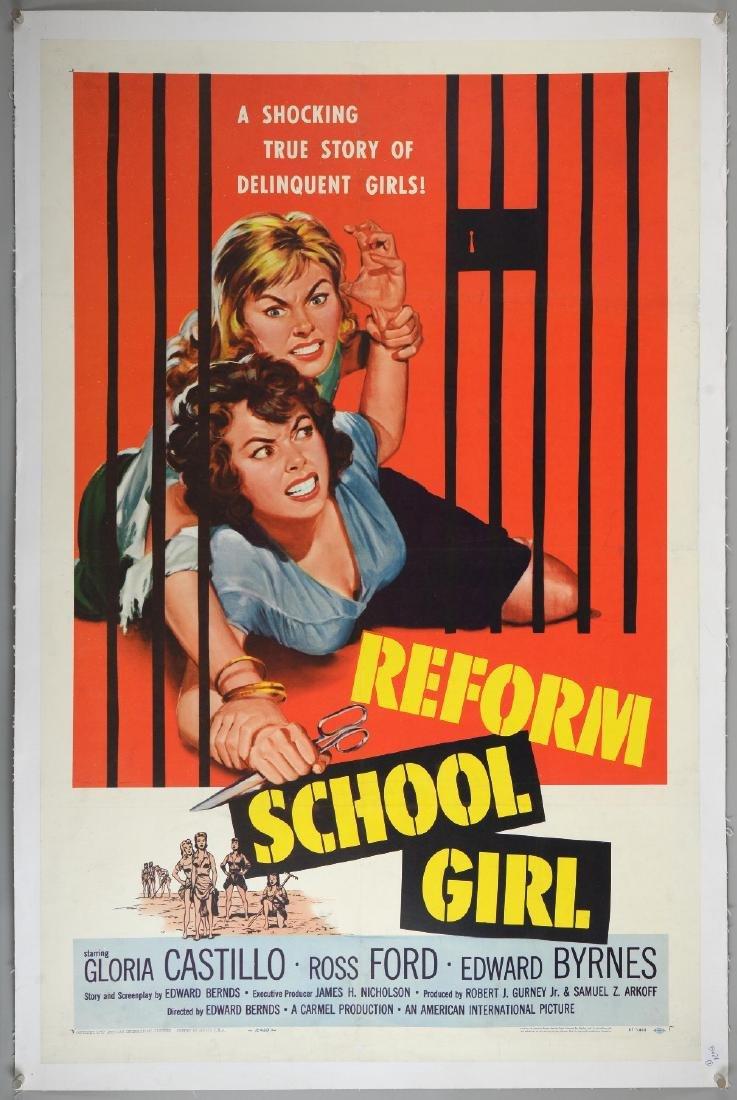 Reform School Girls (1957) US One Sheet film poster,