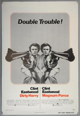 Dirty Harry / Magnum Force (1975) US One sheet film