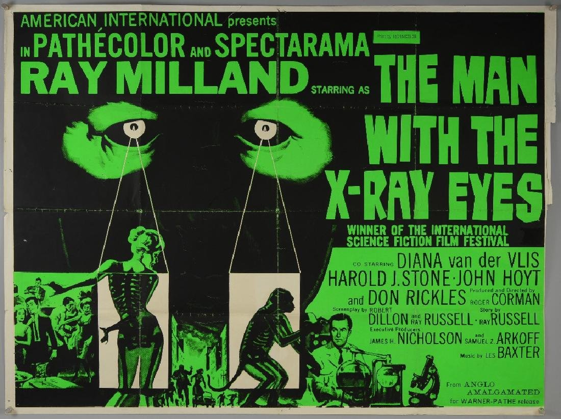 The Man With The X-Ray Eyes (1963) British Quad film