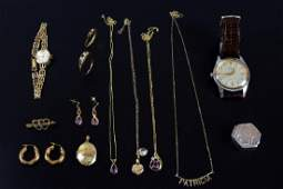 Collection of Jewellery including two gold lockets two