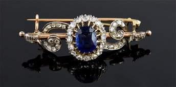 Victorian diamond brooch, set with rose cut diamonds