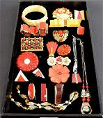 Collection of Art Deco costume jewellery including