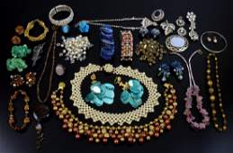Group of vintage costume jewellery including 1960's