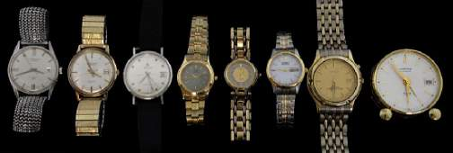Collection of watches including a 9 ct gold Benson