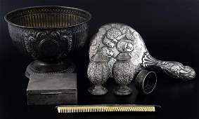 Edward VII silver bowl with gadrooned body on round