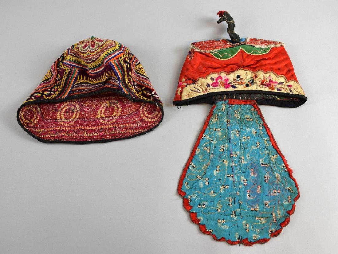 Two  early 20th C, embroidered children'
