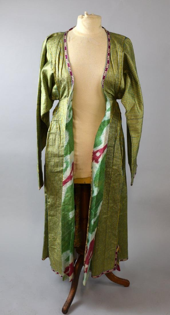 Three  chapan robes, one of woven silk l