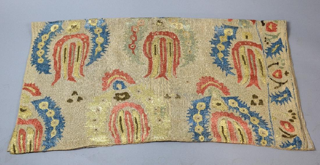 Ottoman embroidery linen worked with sil