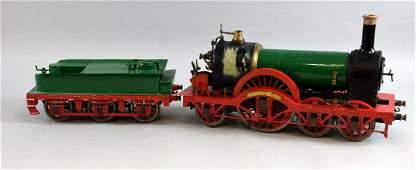 Scratch built live steam model of 4-2-2,