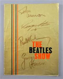 The Beatles Show - Programme signed to t
