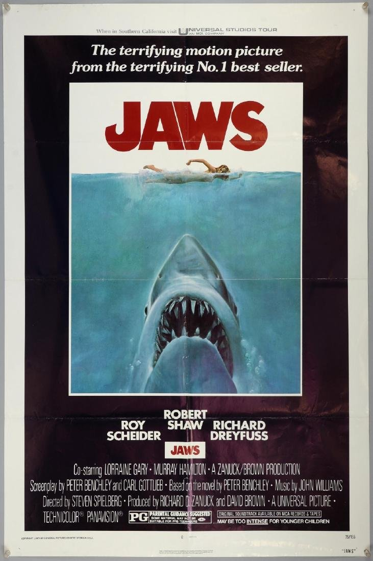 Jaws (1975) One Sheet film poster, starr