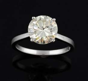Single stone diamond ring, round brilliant cut dia
