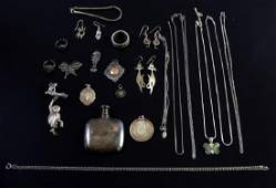 Collection of mainly silver jewellery and medals